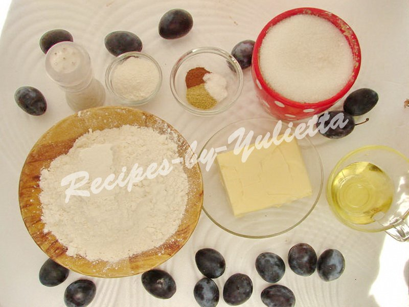 ingredients for dimply plum cake
