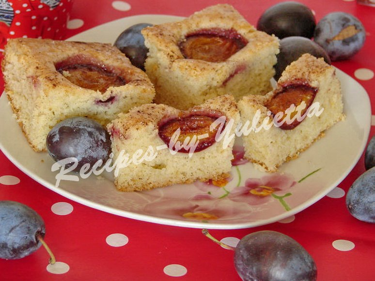 homemade plum cake