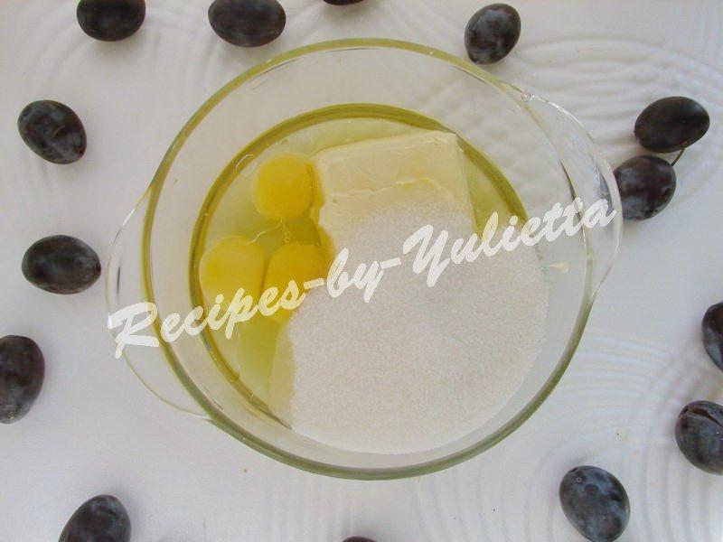 combine liquid ingredients with sugar