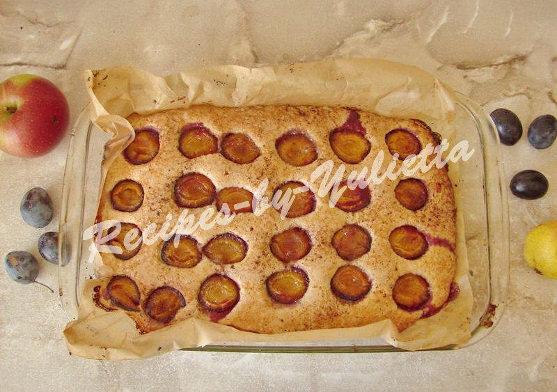 baking plum cake