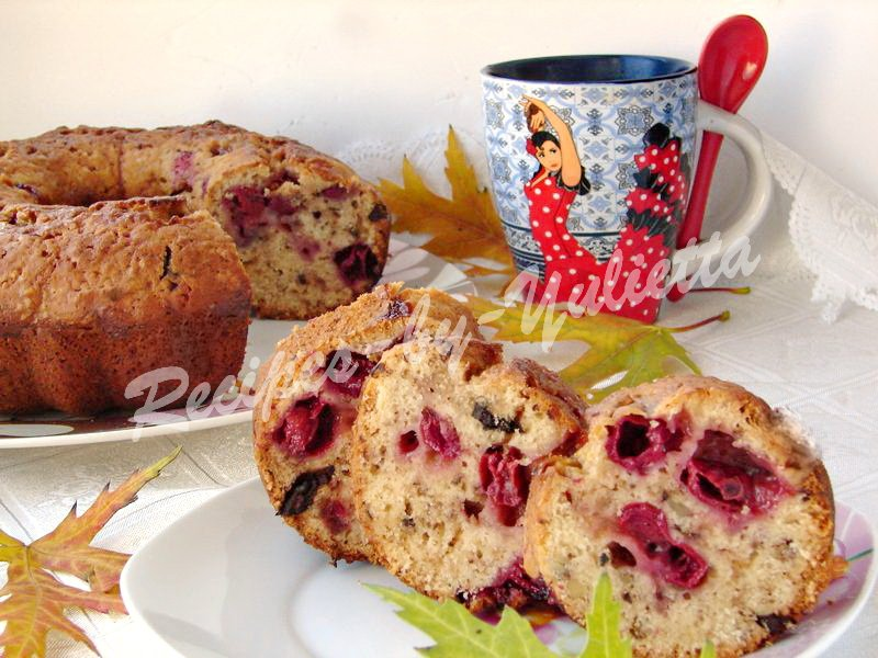Maple syrup cherry cake