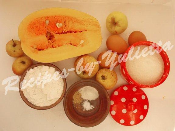 ingredients for pumpkin apple pie