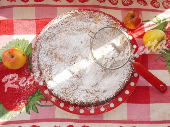 sprinkle the pie with sugar powder