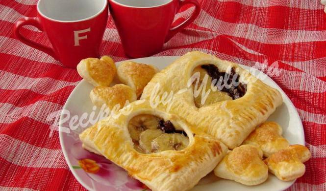 Puff Valentine's day recipe: Puff pastry Hearts