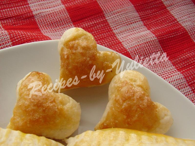 puff pastries hearts