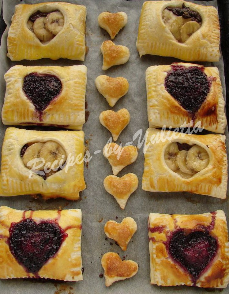 bake the puff pastries