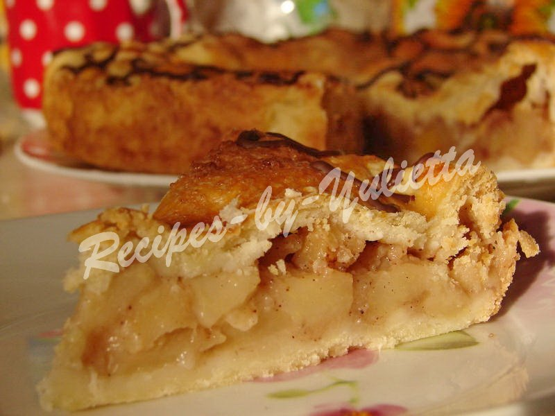 shortbread apple pie