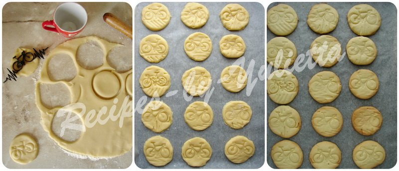 how to bake bike cookies