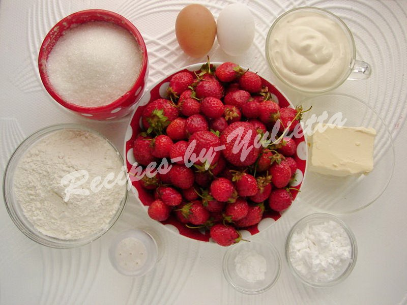 ingredients for strawberry pie