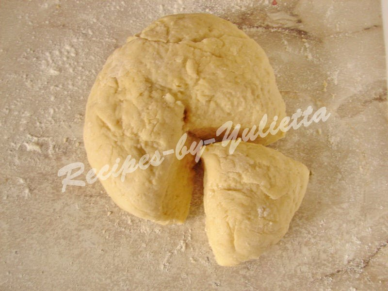 divide the dough into 2 parts