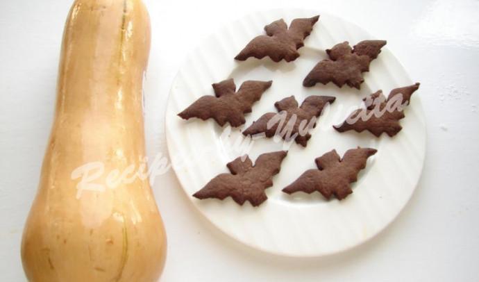Chocolate Bat Cookies for Halloween