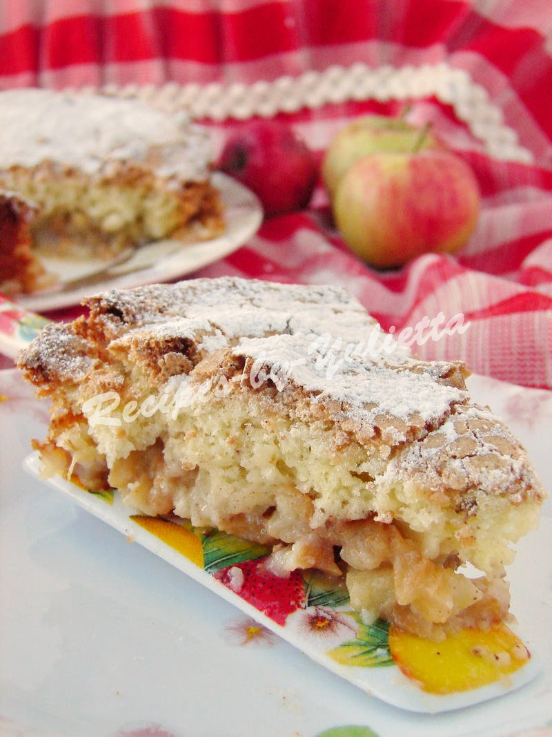 tasty pie with apples