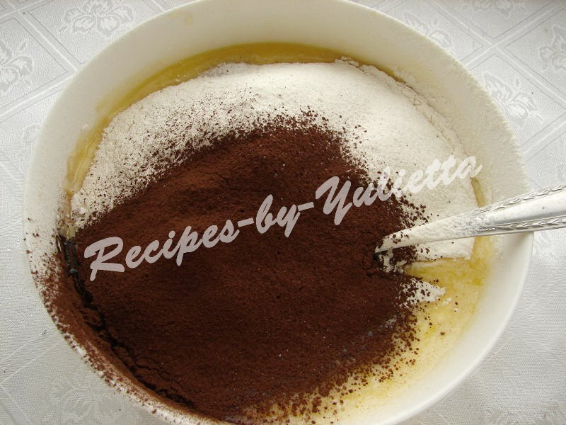 add flour and cocoa