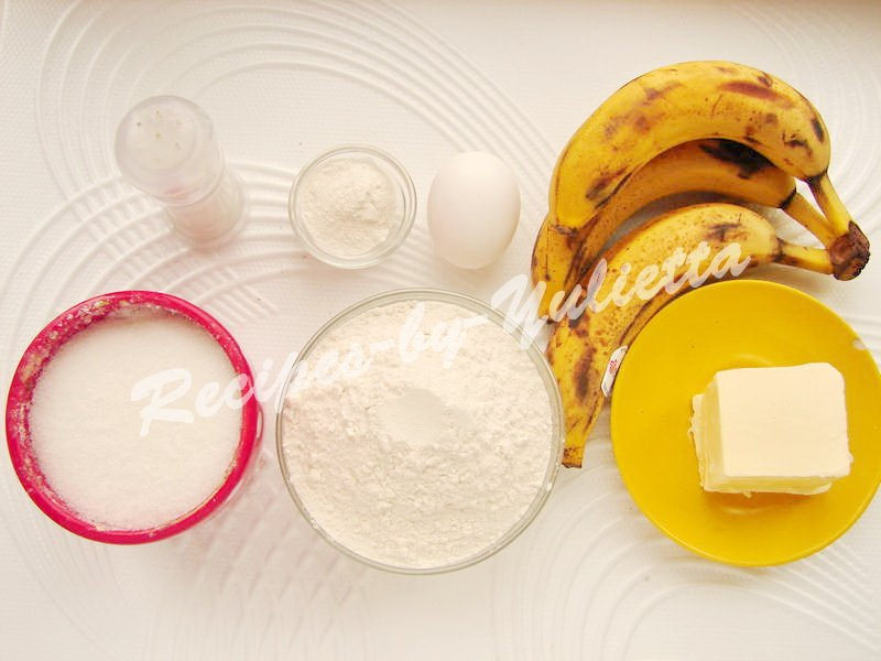 ingredients for banana bread