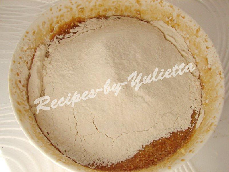 add flour and baking powder