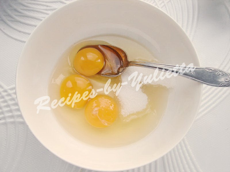 beat eggs with sugar